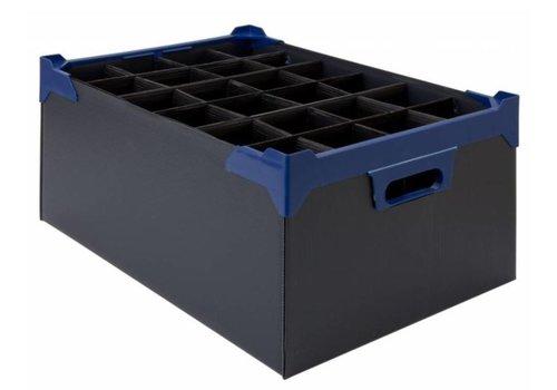 Bar professional Aufbewahrungsbox aus Glas | 24 Gläser | 500x345x200mm | 5 Stk