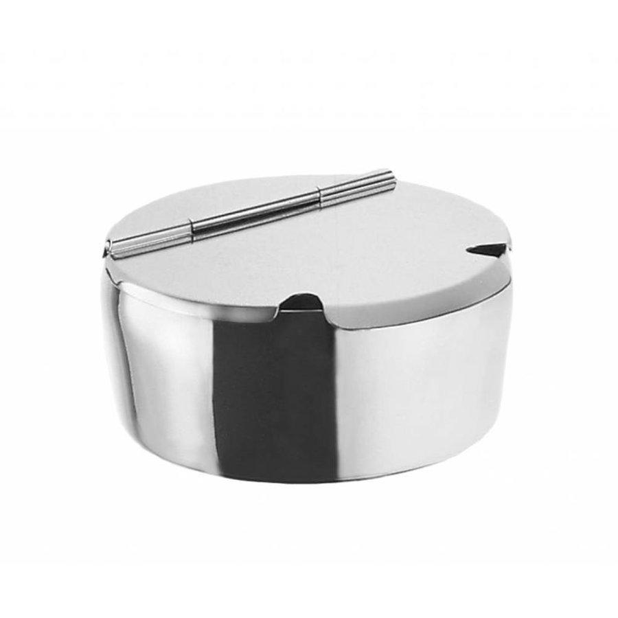 Sugar box stainless steel | Ø14 cm