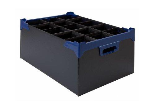 Bar professional Aufbewahrungsbox aus Glas | 15 Gläser | 500x345x200mm | 5 Stk
