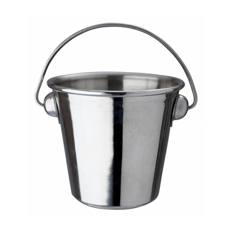 Bucket With Handle Stainless steel | 7x5cm