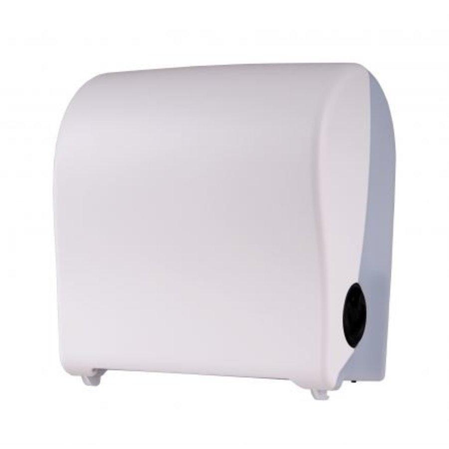 Handdoekroldispenser kunststof wit mini