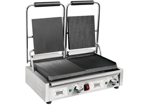Buffalo double contact grill 2.9kW smooth / grooved