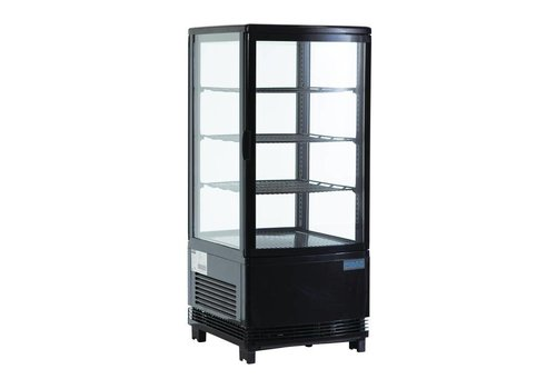 Polar Compact Black Refrigerated Display 68 Liter