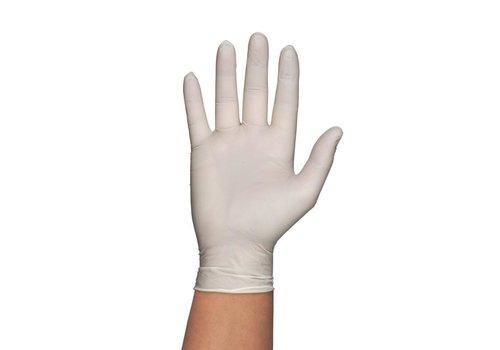 HorecaTraders Wegwerp Handschoenen Wit| 100 Stuks| 4 Formaten