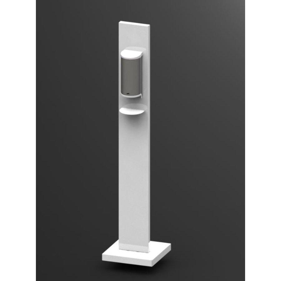 Desinfektionsspender | Stehendes Modell | Weiß | 305 x 305 x 1300 mm