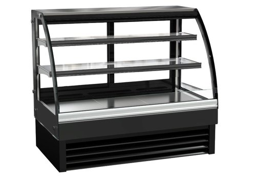 Combisteel Refrigerated display case   Black   Forced