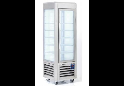 Diamond Refrigerated display case   Stainless steel   360 Liter   5 Schedules