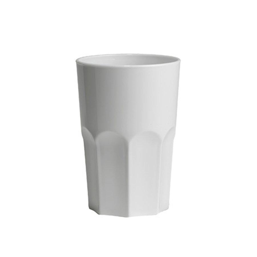 Glas Granity weiß | 40 cl | Kunststoff | 5 Stücke