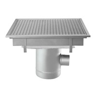 Stainless steel floor drain | 600x600 mm | Lateral drain 100 mm