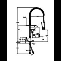 Dusche mit Zwischenhahn vorspülen | Einloch | Tischmodell