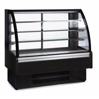 Kühlvitrine aus Edelstahl mit Glastür | 1,650 x 730 x 1,379 mm