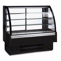 Stainless Steel Refrigerated Display Case With Glass Door   1,650x730x1,379 mm