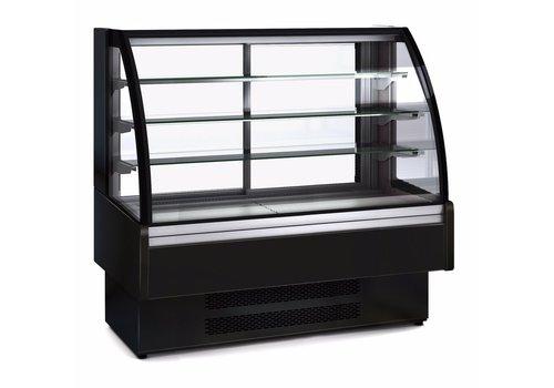 Coreco Kühlvitrine aus Edelstahl mit Glastür   1,650 x 730 x 1,379 mm