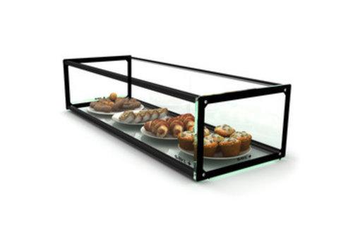 Sayl Neutrale Vitrine | Erhältlich in 6 Größen | LED-Beleuchtung | Gehärtetes Glas