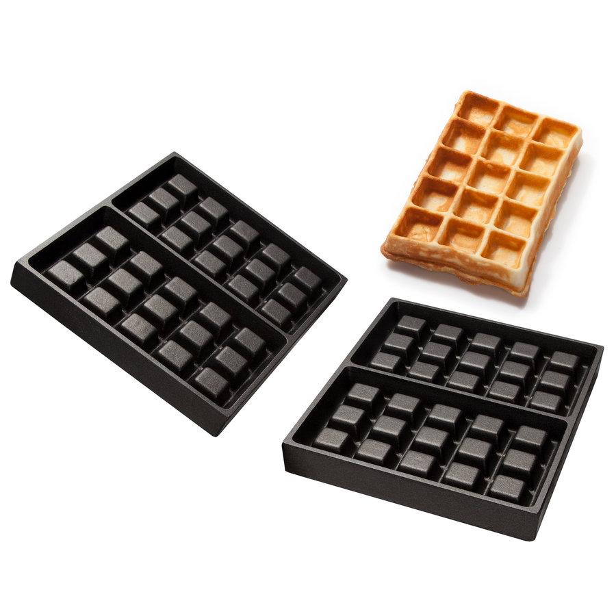 Brussels waffle baking trays Aluminum with non-stick coating