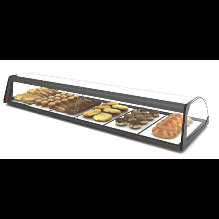 Neutrale Vitrine | Erhältlich in 4 Größen | Gehärtetes Glas | LED-Beleuchtung