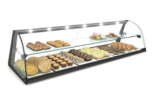 Sayl Neutral display case | Available in 4 sizes | Tempered glass | LED-lighting