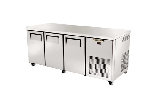True 3-door stainless steel workbench CN refrigeration | 83 x 188 x 70 cm