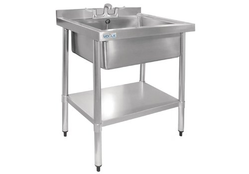 Vogue Stainless steel sink with bottom shelf 75x60x96 cm
