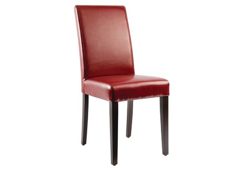 Bolero Leatherette Chairs Red | 2 pieces