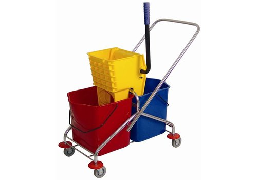 HorecaTraders Double mop bucket and wringer