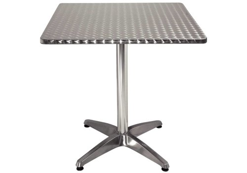 Bolero Square stainless steel hospitality table 70x70 cm