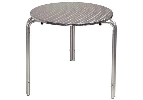 Bolero Edelstahl stapelbar Tisch | Rund 70 cm