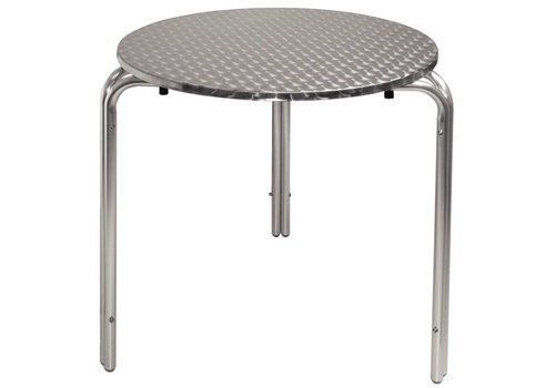 Bolero Stainless steel table | 70 cm around