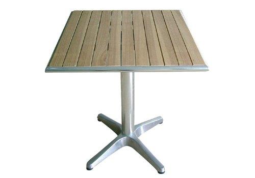 Bolero Tafel vierkant met houten blad | 60x60cm