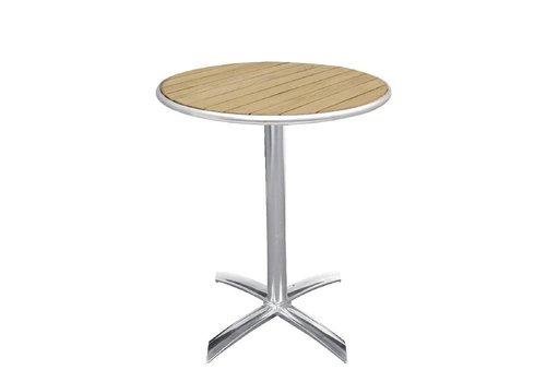 Bolero Folding Round Table mit Holzplatte
