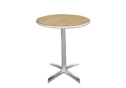 Bolero Table folding round with wooden leaf