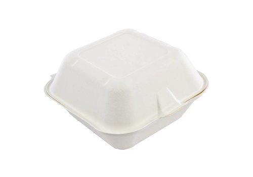 HorecaTraders Recyclebar Hamburger-Box (500 Stück)