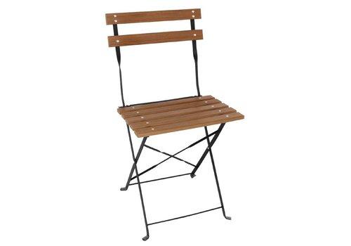 Bolero Holzklappstuhl Klassisches Modell | 2 Stück