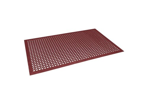 HorecaTraders Anti-Ermüdungsmatte Rot | 90 x 150 cm