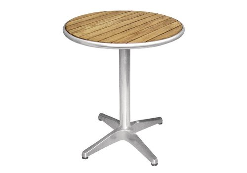 Bolero Table Round with Wooden Leaf | 60 cm