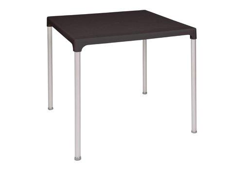 Bolero Quadratischer Tisch Schwarz | 75x75 cm