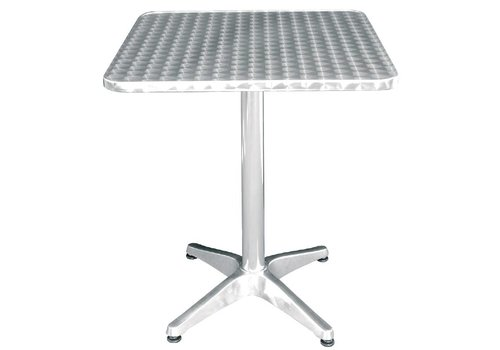 Bolero Stainless steel Table Square 60x60 cm MOST SOLD