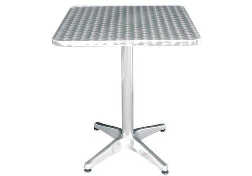 Bolero Tisch aus Edelstahl 60x60 cm
