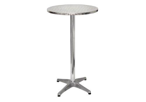 Bolero Aluminium Statafel Rond | 60 cm