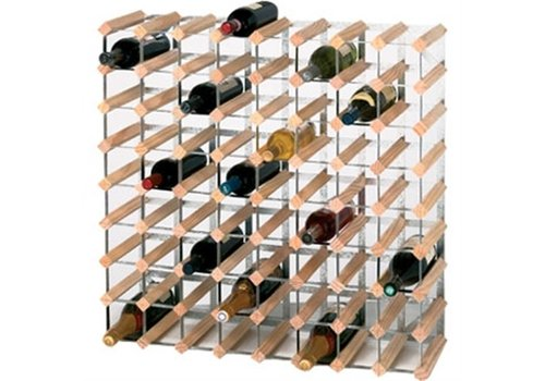 HorecaTraders Wooden Wine Rack 72 bottles