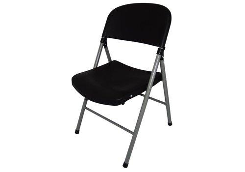 Bolero Inklapbare stoelen Kunststof Zwart | 2 Stuks