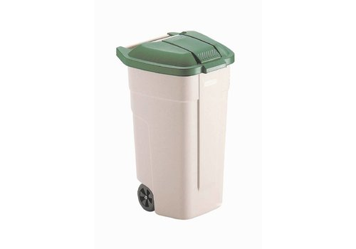 Rubbermaid Roll container Green Lid | 100 liters