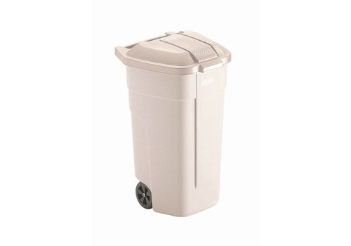 Rubbermaid Roller Beige with lid | 100 liters