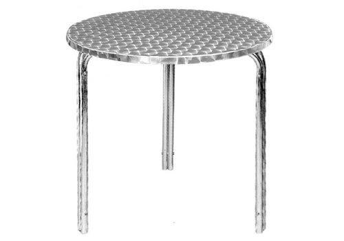 Bolero Stapelbare Tische aus Edelstahl 60 cm