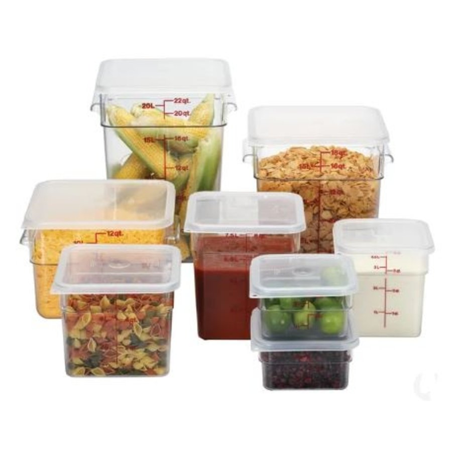 Lebensmittelbehälter aus Polycarbonat mit abgestuften Streifen 6 Stück