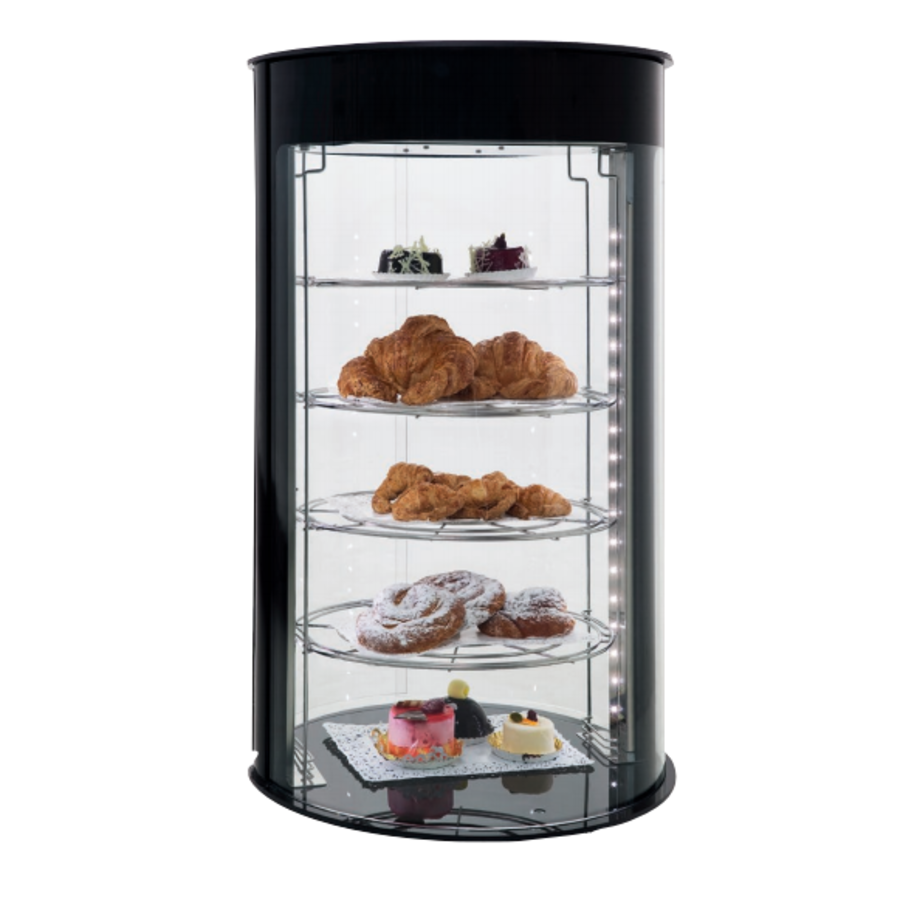 Neutral pastry display case Available without and with LED lighting Reinforced glass