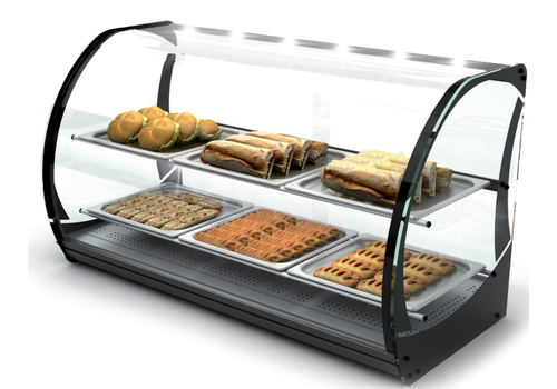 Sayl Neutral display case with 1 shelf Tempered glass | LED-lighting