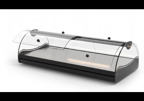 Sayl Neutrale Vitrine | Erhältlich in 3 Größen | Zugang auf beiden Seiten LED-Beleuchtung