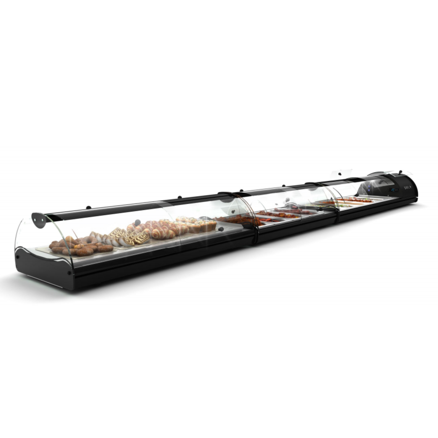 Neutral display case | Available in 3 sizes | Access on both sides LED-lighting