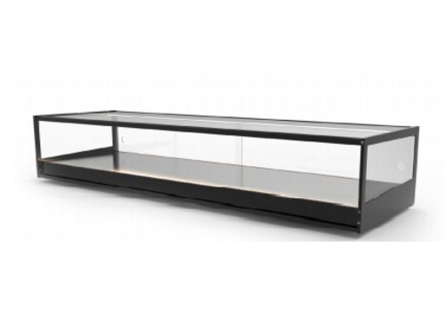 Sayl Neutral display case | Available in 6 sizes | LED lighting | Hardened glass